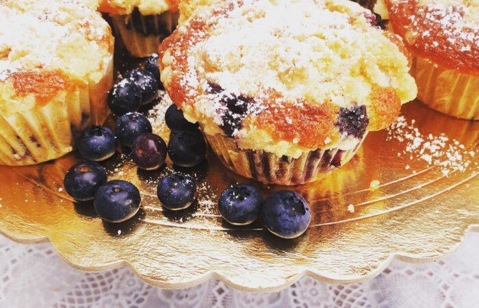 Muffiny z borówkami